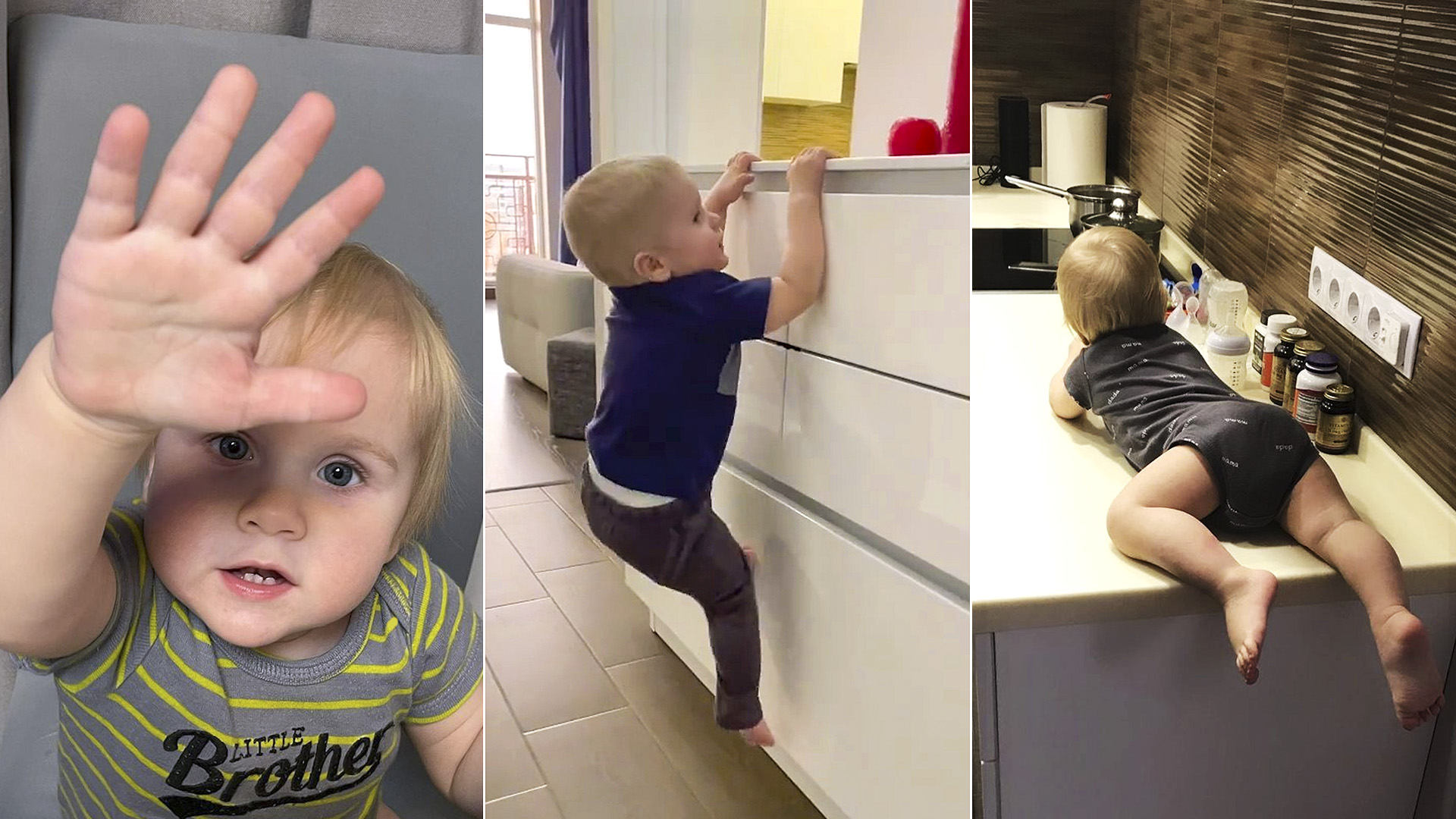 VIDEO: Viral: Agile Tot Dubbed Super Mark For Climbing Home Furniture With Ease