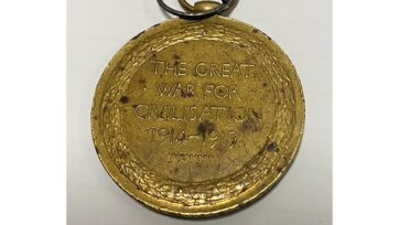 A British Victory Medal lost for 96 years has been returned to Private Robert Smith's family.