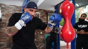 Heavyweight contender Chris Arreola training in Los Angeles. (Sean Michael Ham/TGB Promotions)