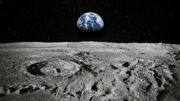 Lunar soil is set to provide the oxygen needed for upcoming moon missions. (NASA/Shutterstock)