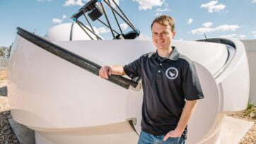 Astrophysicist Brett Addison has helped discover a backwards-spinning super-hot new planet.