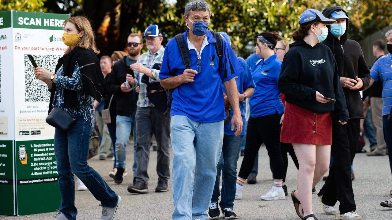 Face Masks At The Footy As Western Australia Eases Rules