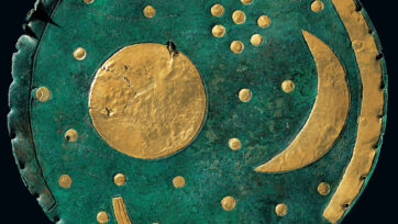 The Nebra Sky Disc was discovered in the German state of Saxony-Anhalt. (State Office for Heritage Management and Archaeology Saxony-Anhalt, J. Liptak/Newsflash)