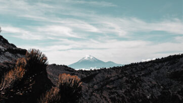 The Pico de Orizaba volcano plays an important role in the state's water cycle, which is under pressure this year. (Ignacio Velez/Unsplash)