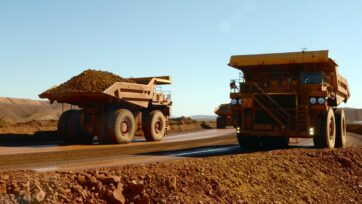 Treasury is still expecting the iron ore price to hit $US55 per tonne in the next year.