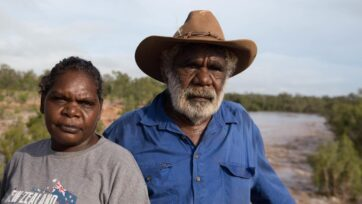 Garawa elder Jack Green and Gudanji woman Josie Davey Green are troubled by a lack of consultation.
