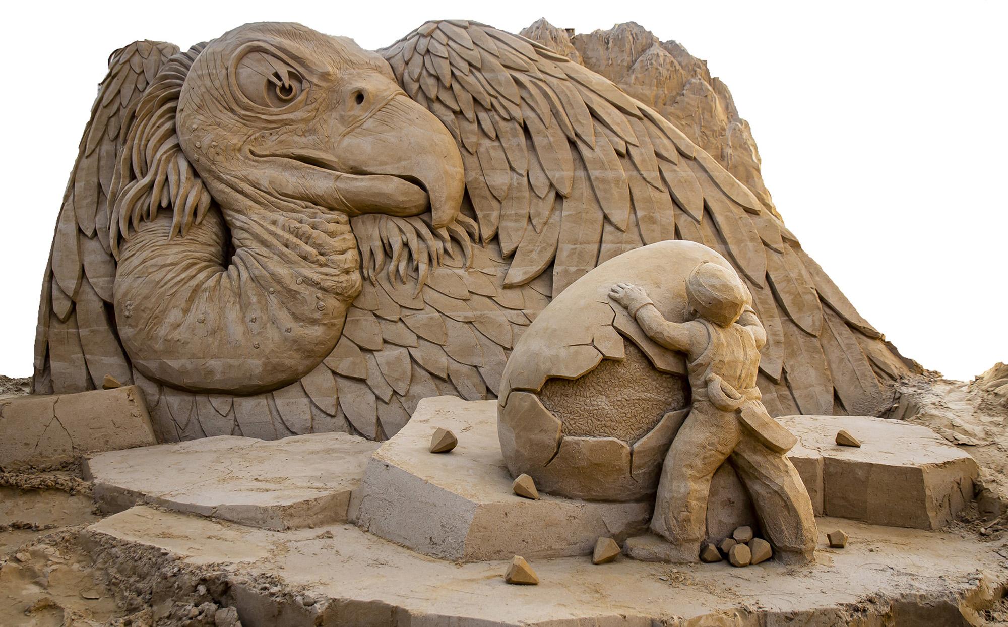 Sandtastic Beasts: Sand Sculpture Masterpieces In Wildlife Exhibition