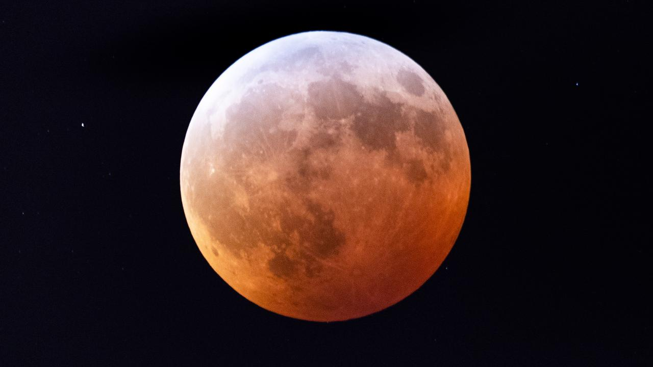 Rare Super Blood Moon In Australia's Night Sky