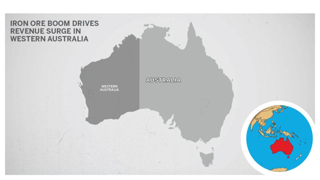 Map of Western Australia.