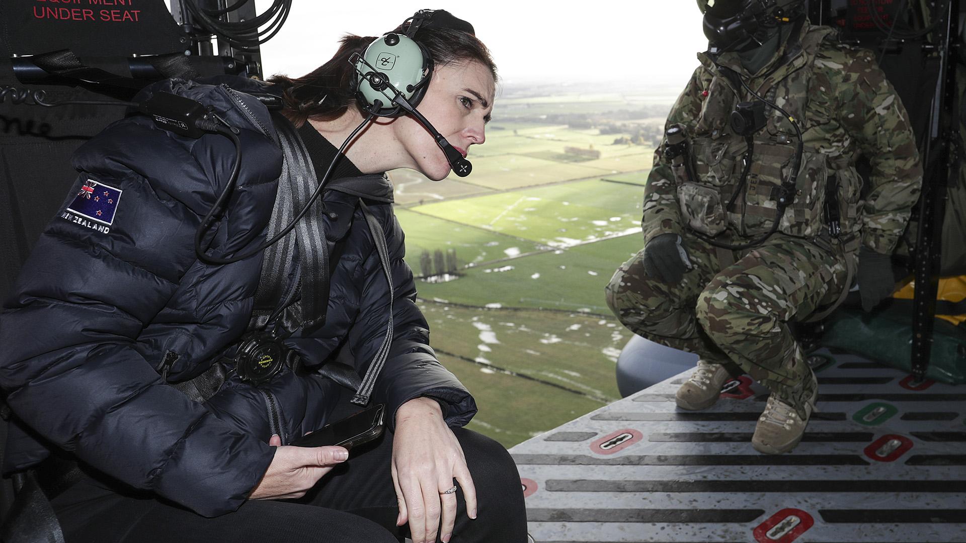 Jacinda Ardern Tours New Zealand Flood Devastation