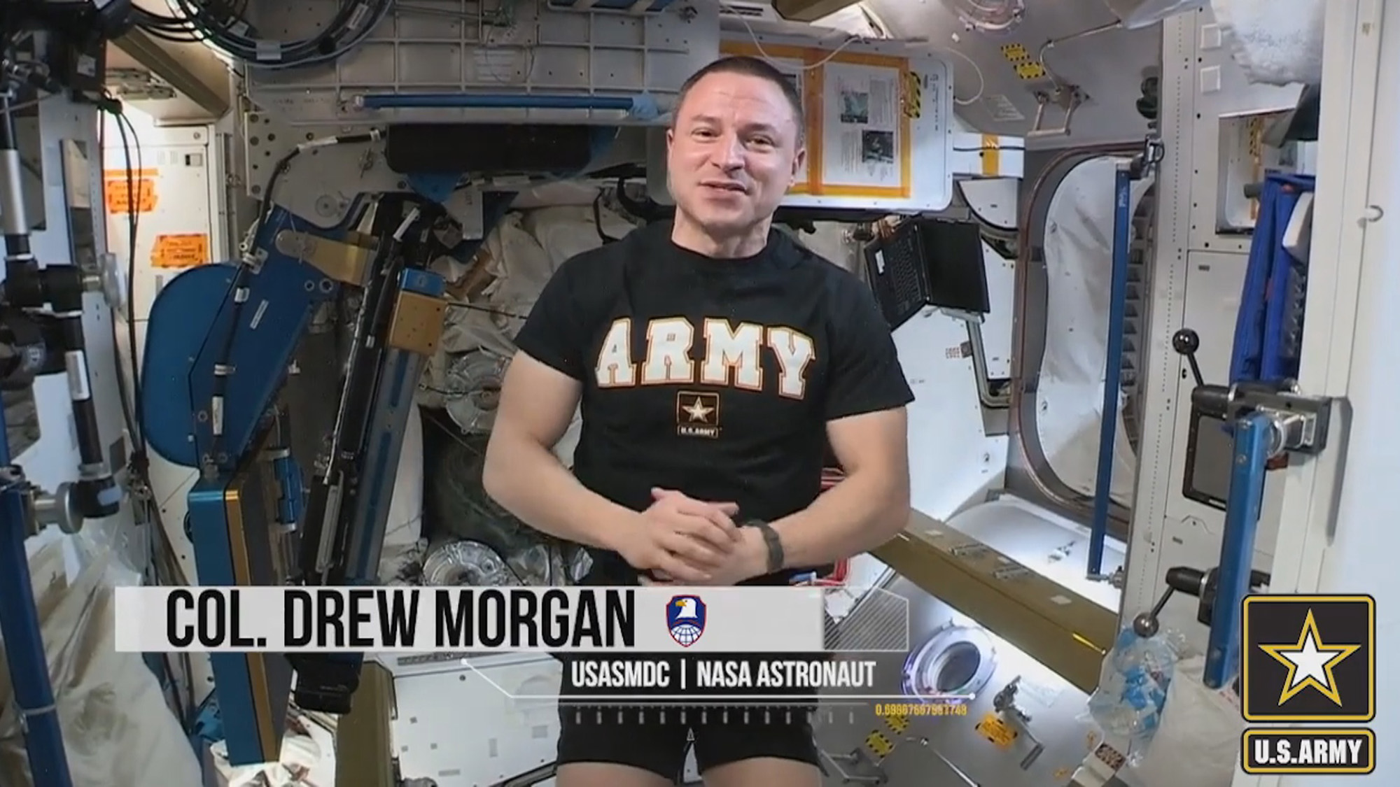Weightless Workout: Army Astronaut Performs Combat Fitness Test In Space Station
