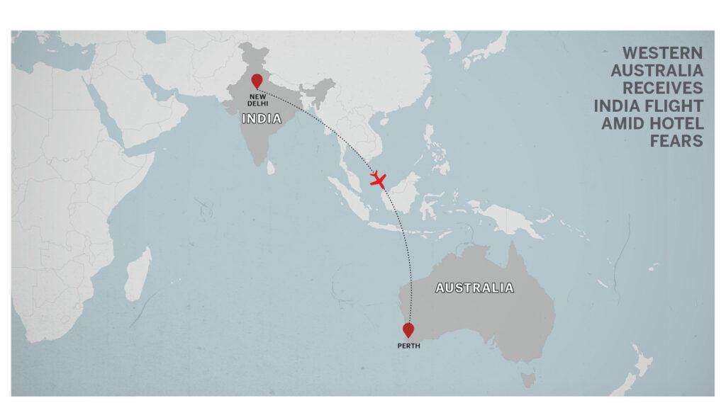 Map of Delhi, India, Perth, Australia