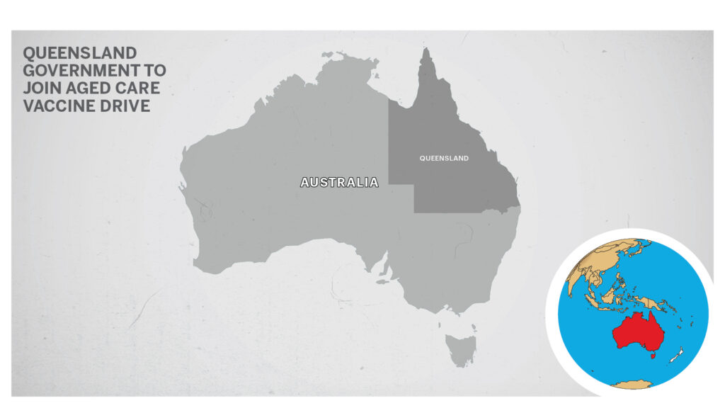 Map of Queensland, Australia