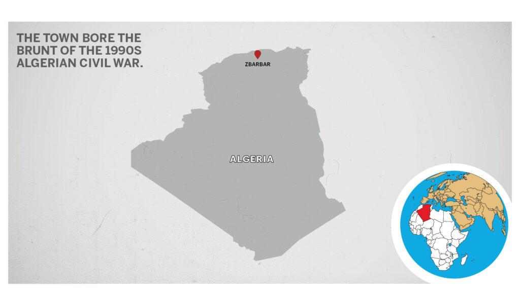 Map of Zbarbar Algeria
