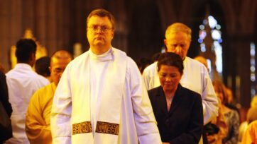 Former priest Peter Hansen has been sentenced to almost two decades in jail for child sexual abuse.