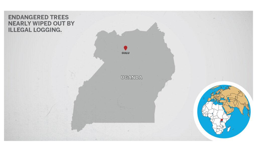 Map of Gulu, Uganda.