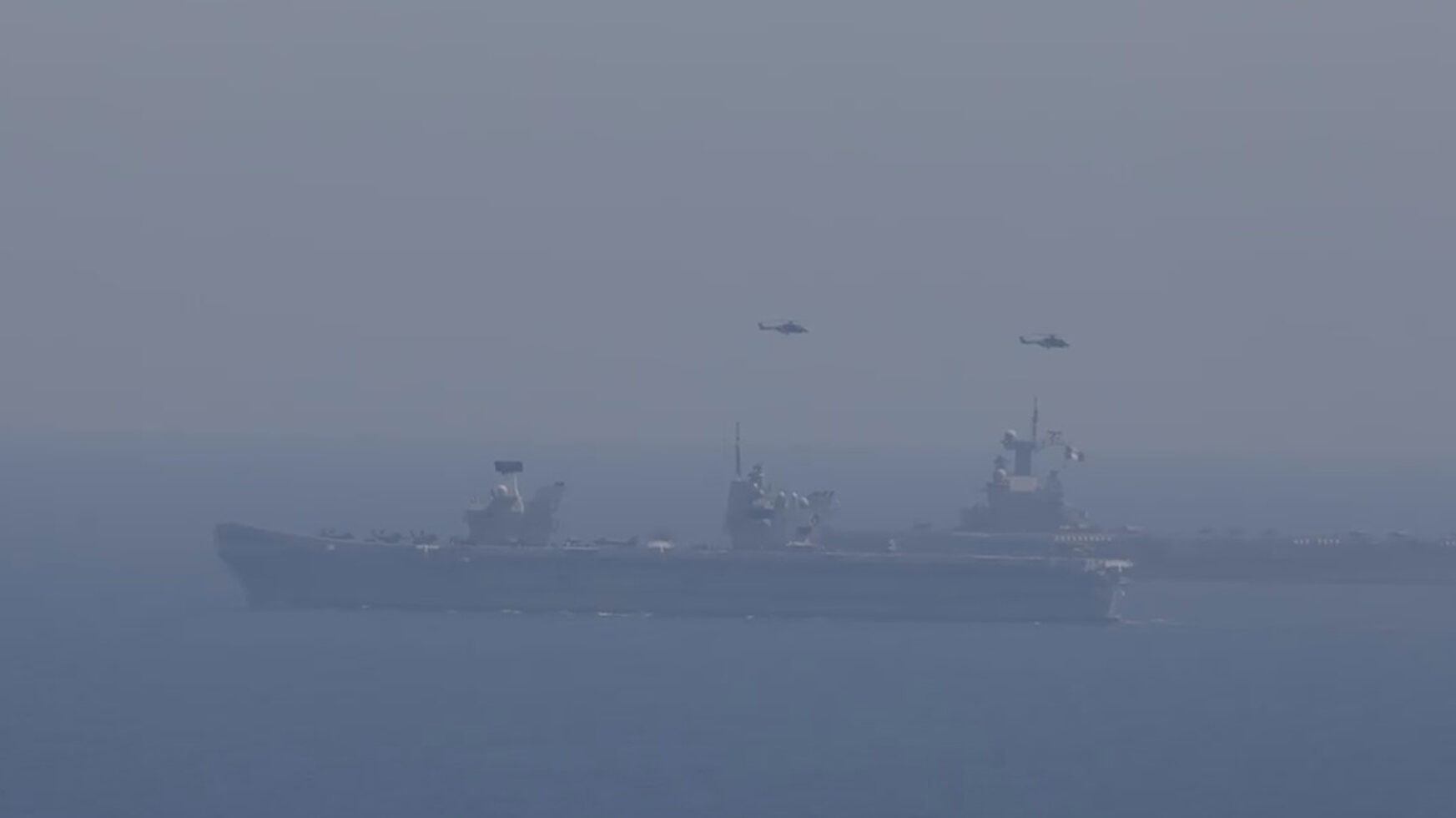VIDEO: Queen Elizabeth Too: British Flagship Flattop Joins French Warship For War Games