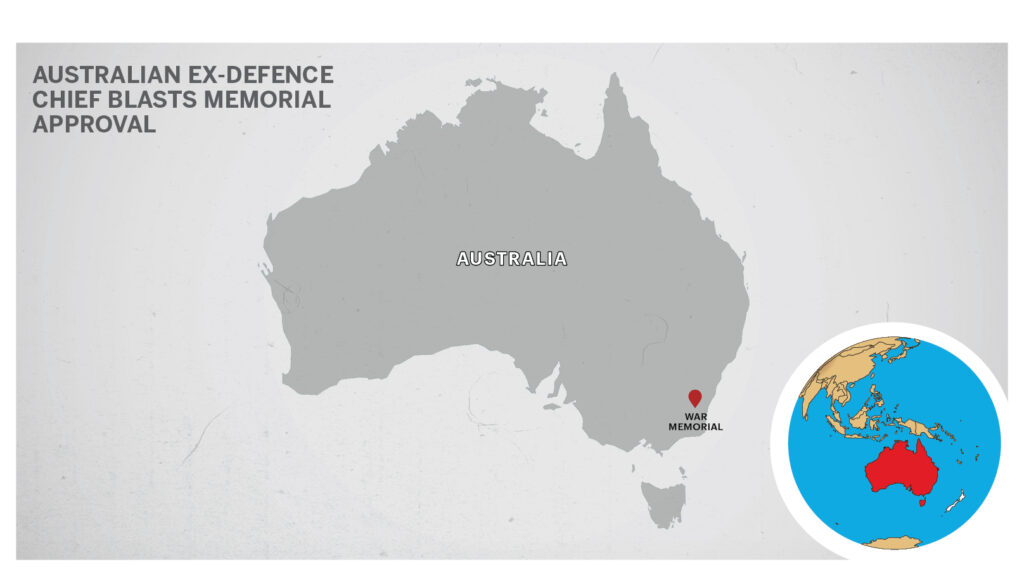 Map of Canberra, Australia.