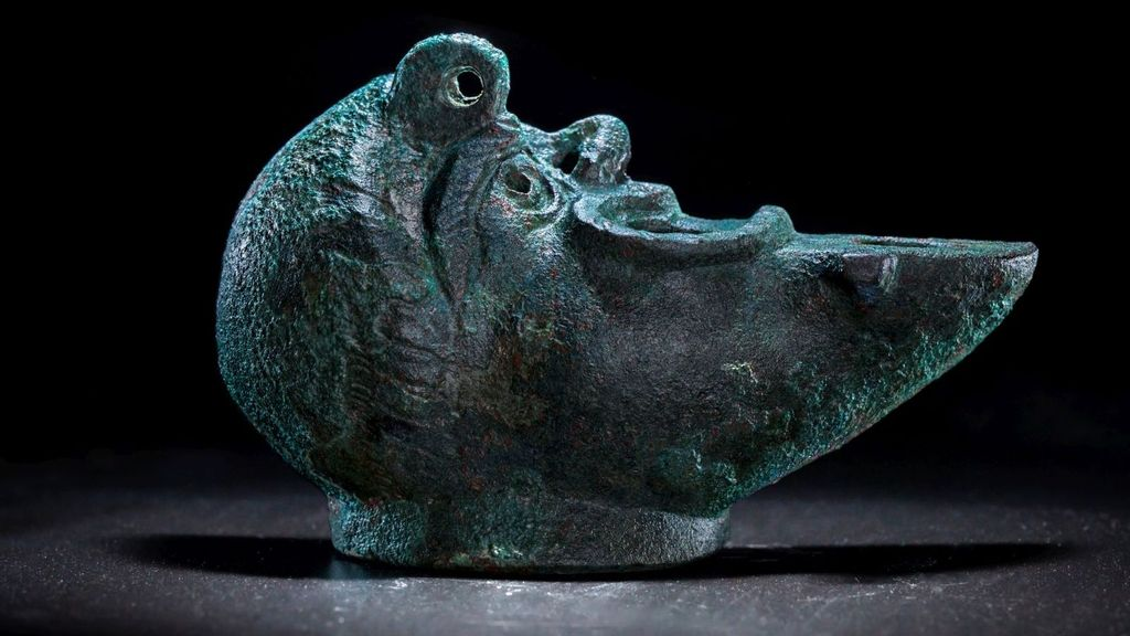 Rare Ancient Bronze Oil Lamp For Luck Unearthed In Jerusalem