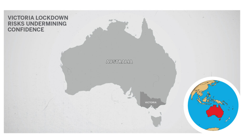 Map of Victoria, Australia.