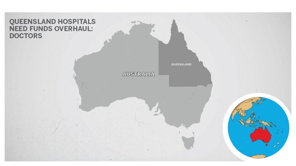 Map of Queensland, Australia.