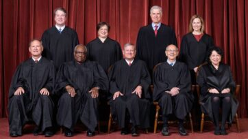 The present U.S. Supreme Court bench. (Fred Schilling/Collection of the Supreme Court of the United States)