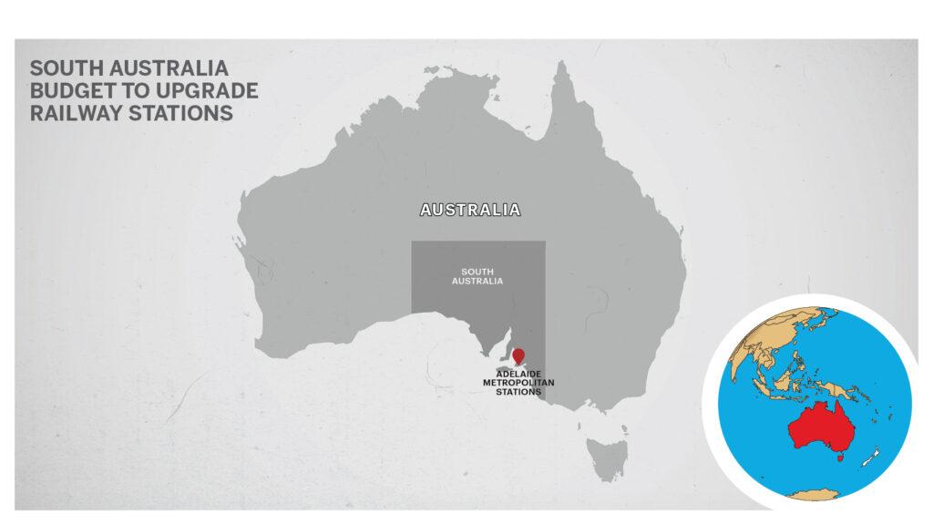 Map of Adelaide Australia