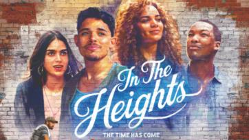 """Melissa Barrera y Anthony Ramos forman parte del elenco de """"In The Heights."""" (Warner Bros. release poster)"""