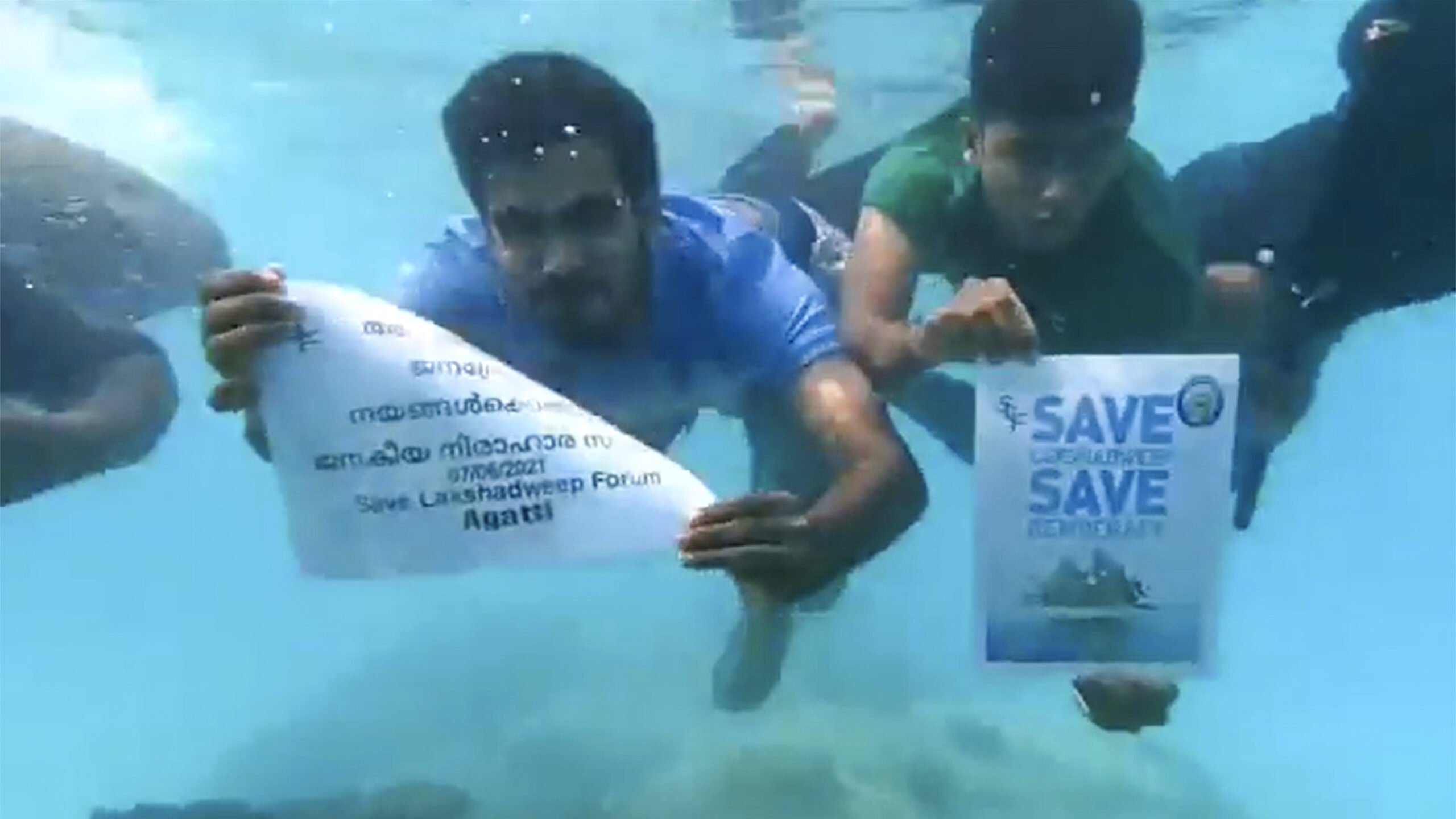 Locals Of India's Smallest Union Territory Take Protest Against Draft Laws Underwater