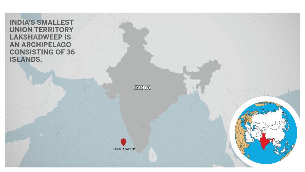Map of Lakshadweep India