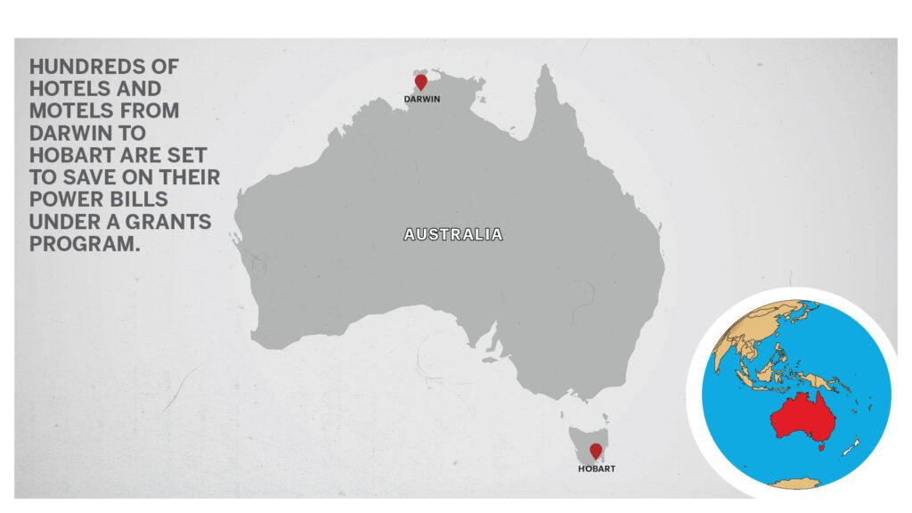 Map of Darwin & Hobart Australia
