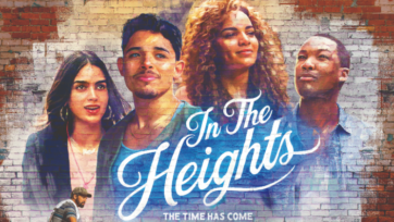"""Melissa Barrera and Anthony Ramos are part of the cast of """"In The Heights."""" (Warner Bros. release poster)"""