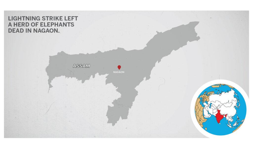 Map of Nagaon Assam
