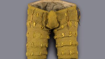 The silk-knitted underpants of Duke August von Sachsen are on display in an exhibit on the Habsburgs that runs until October. (SKD, Jurgen Losel/Zenger News)