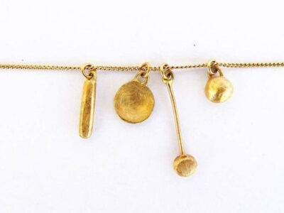 """Noa Sharon's """"Tiny Treasures"""" necklace is made from leftover metals. (Courtesy of Noa Sharon)"""
