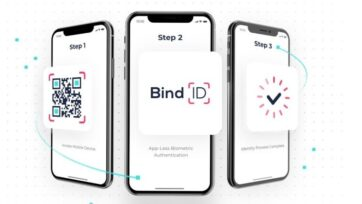 BindID replaces passwords with biometrics. (Courtesy of Transmit Security)