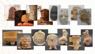 Pre-Columbian artifacts that were returned to the Mexican Embassy in Berlin by two private collectors. (Gobierno De Mexico/Zenger News)