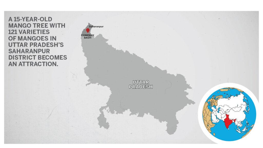 Map of Company Bagh Uttar Pradesh