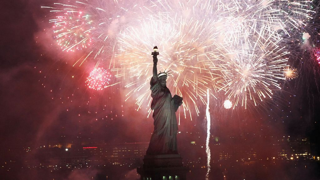 <p>Day of celebration: People across America are celebrating freedom on July 4. (Spencer Platt/Getty Images)</p>