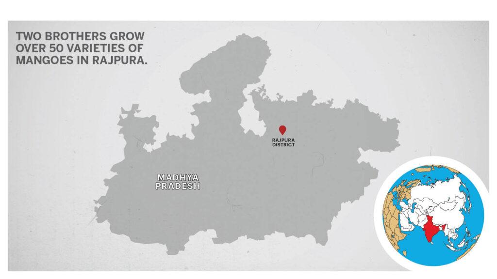 Map of Rajpura Madhya Pradesh