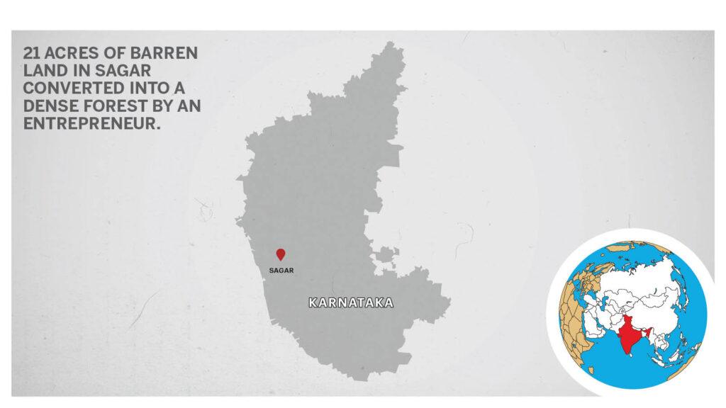 Map of Sagar Karnataka