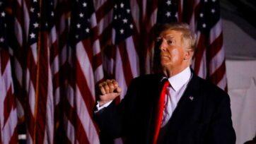 Former U.S. President Donald Trump at a July 3 rally in Sarasota, Florida. (Eva Marie Uzcategui/Getty Images)