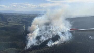 The Ellis Fire near the Smith River in Montana ignited this week and quickly grew to cover 75 acres. (Inciweb/National Wildfire Coordinating Group)