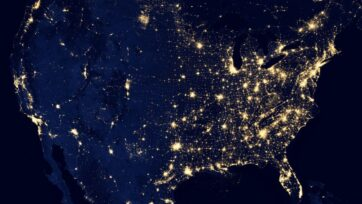 Turning power grids into net-zero energy systems will be a massive undertaking that will involve a hefty doses of high tech. (NASA)
