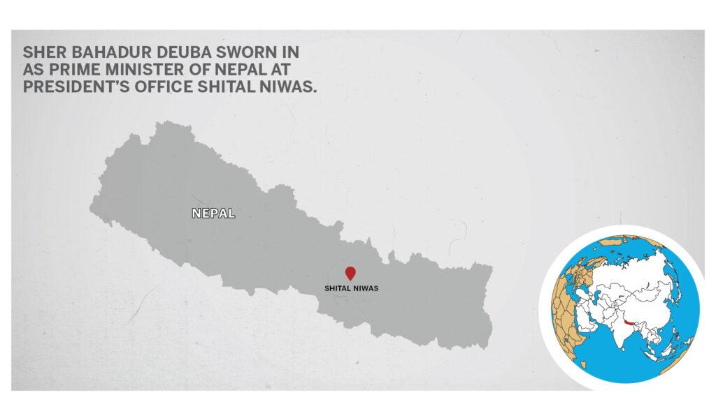 Map of Shital Niwas Nepal