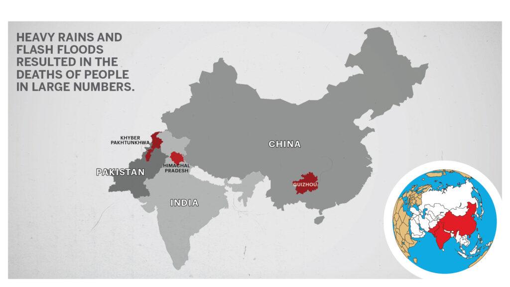 Map of India Pakistan China