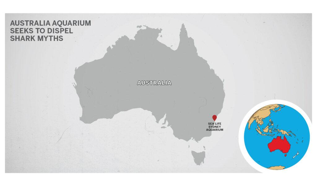 Map of Sea Life Sydney Aquarium