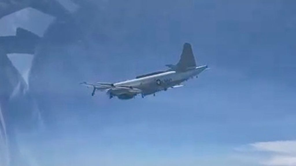 VIDEO: High Anxiety: Russia Boasts Of 'Targeting' US Spy Plane With Fighter Jet Over Black Sea