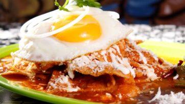 Los chilaquiles rojos con huevo son de los favoritos de los mexicanos, perfectos para el desayuno. (strongCortesía Erika Miranda Melgoza)/strong