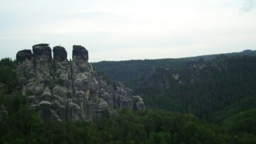 Fingers of the Elbes in Saxon Switzerland national park in Saxony, Germany. (Shivya Nath/Creative Commons)